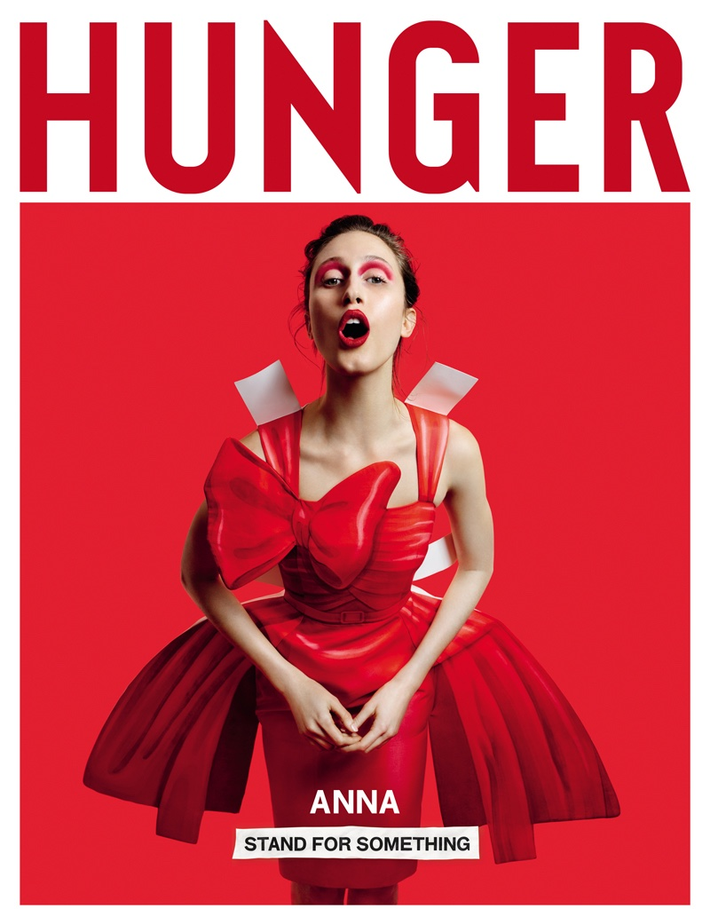 Anna Cleveland on Hunger Magazine #12 Cover. Photo: Rankin