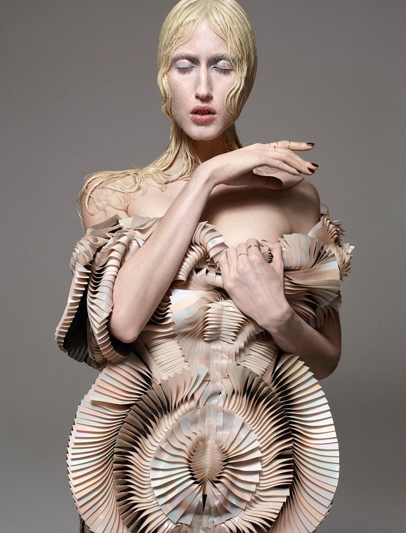 Anna Cleveland Models Avant Garde Looks in Hunger Magazine