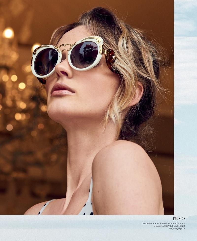 Prada 54MM Metal-Trim Cat Eye Sunglasses
