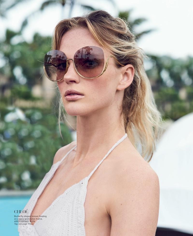 Chloe Butterfly Shaped Sunglasses $396