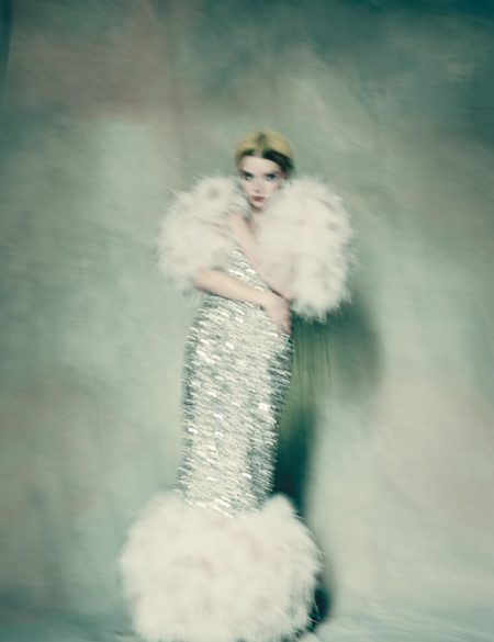 Anya Taylor-Joy Enchants in Haute Couture Gowns for W Magazine