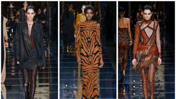 Balmain Delivers Amazonian Vibes for Fall 2017