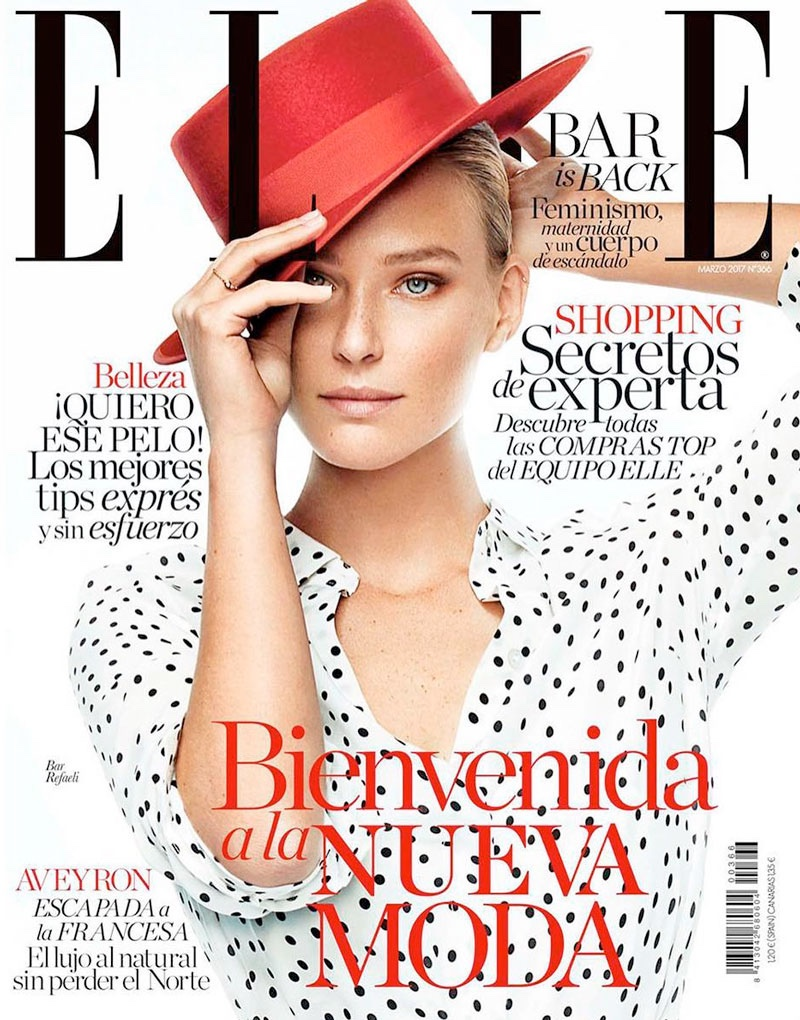 Bar Refaeli on ELLE Spain March 2017 Cover