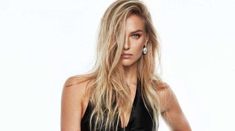 Bar Refaeli models Miu Miu poncho, top and briefs
