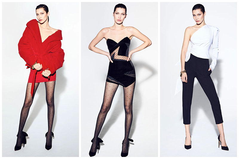 Bella Hadid Models Sleek Styles for Alexandre Vauthier's Fall 2017 Collection