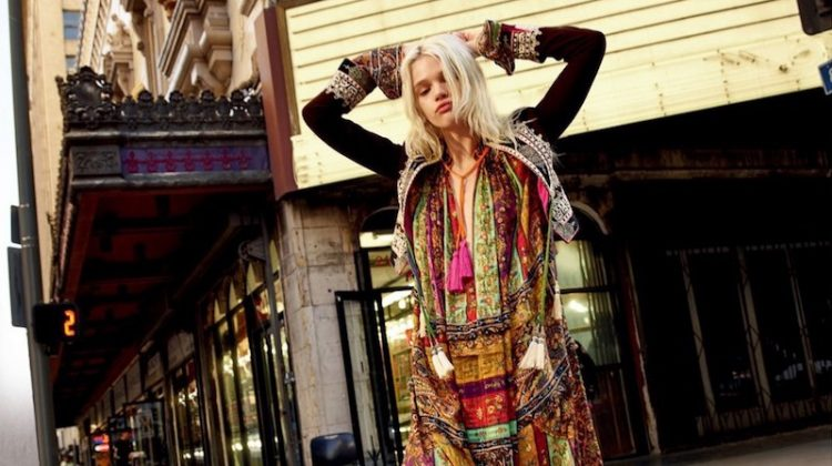 Stella Lucia Hits the Streets in Bohemian Fashions for Saks Fifth Avenue