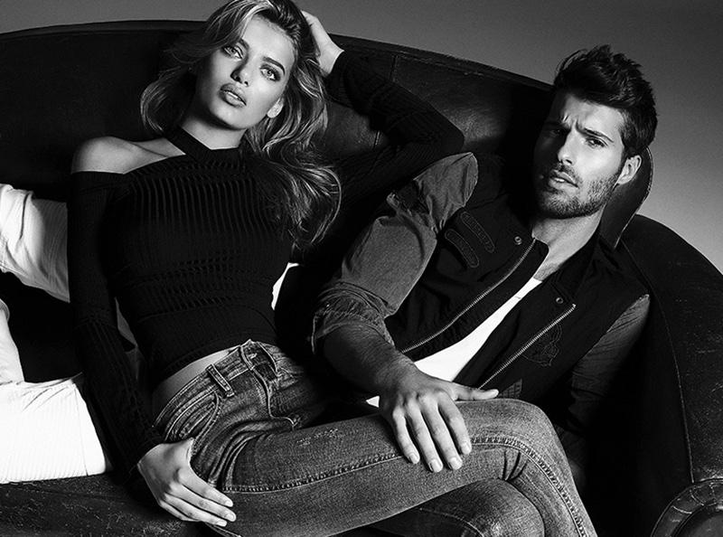 Bregje Heinen models form-fitting denim in Buffalo Jeans' spring 2017 campaign