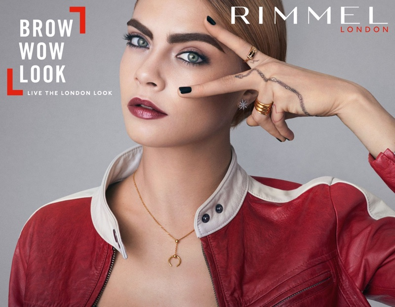 Cara Delevingne stars in Rimmel London Brow Shake Filling Powder campaign