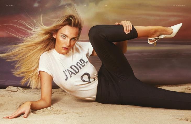Caroline Trentini Serves Pure Glam in Dior for POP Magazine