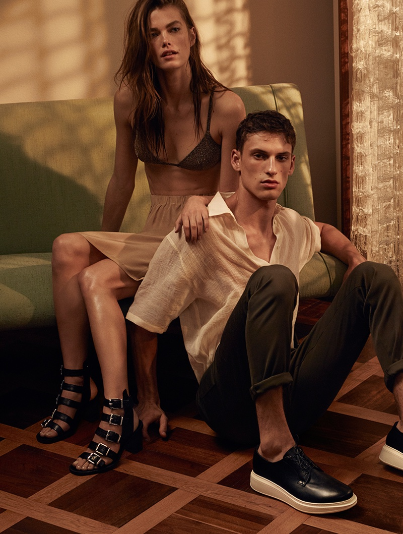 Mathilde Brandi and David Trulik star in Cesare Paciotti's spring-summer 2017 campaign