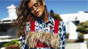 Chloe Lecareux Poses in Warm Weather Looks for ELLE Spain