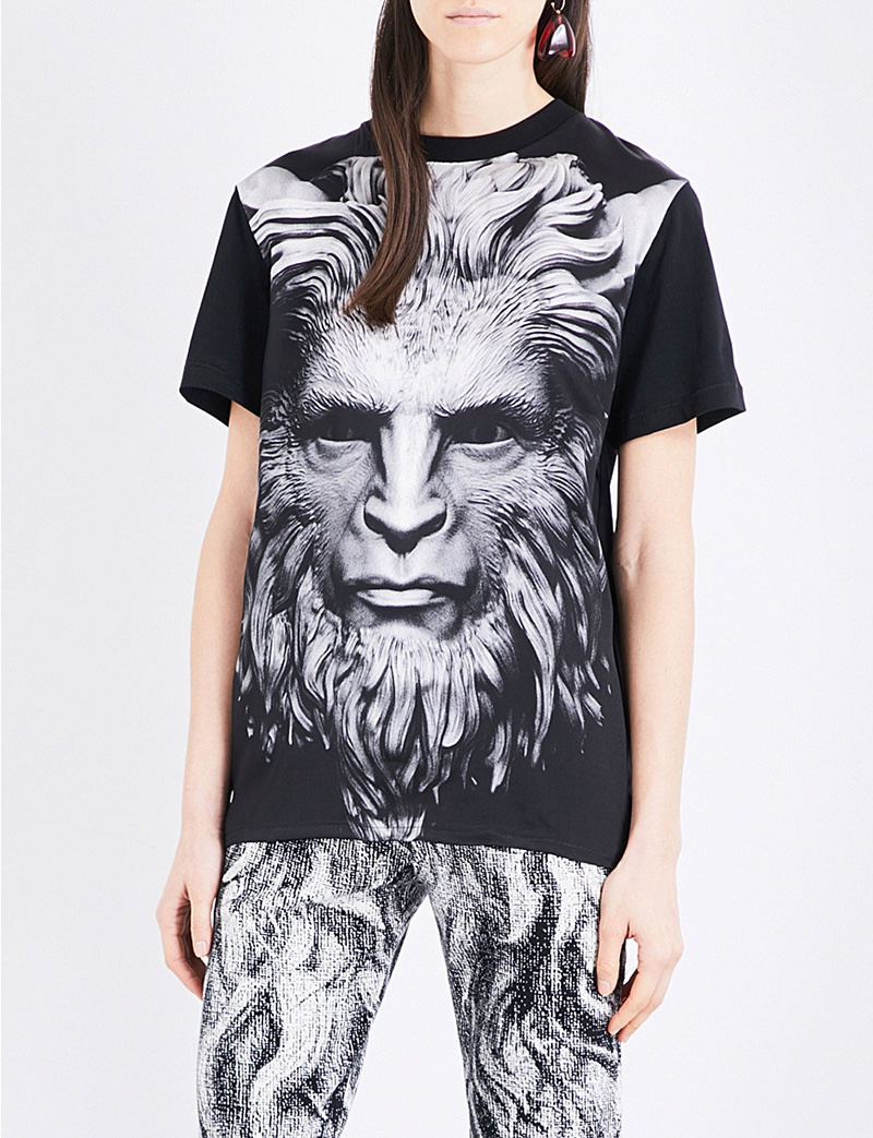 Christopher Kane x Beauty and the Beast Cotton and Silk Blend T-Shirt