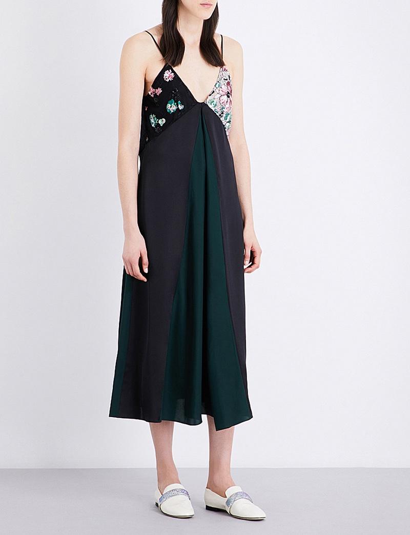 Christopher Kane x Beauty and the Beast Cotton Silk Dress