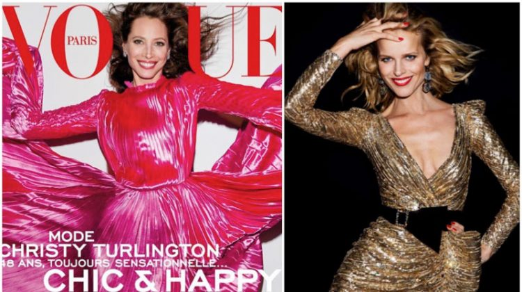 Christy Turlington & Eva Herzigova Bring the Smiles to Vogue Paris