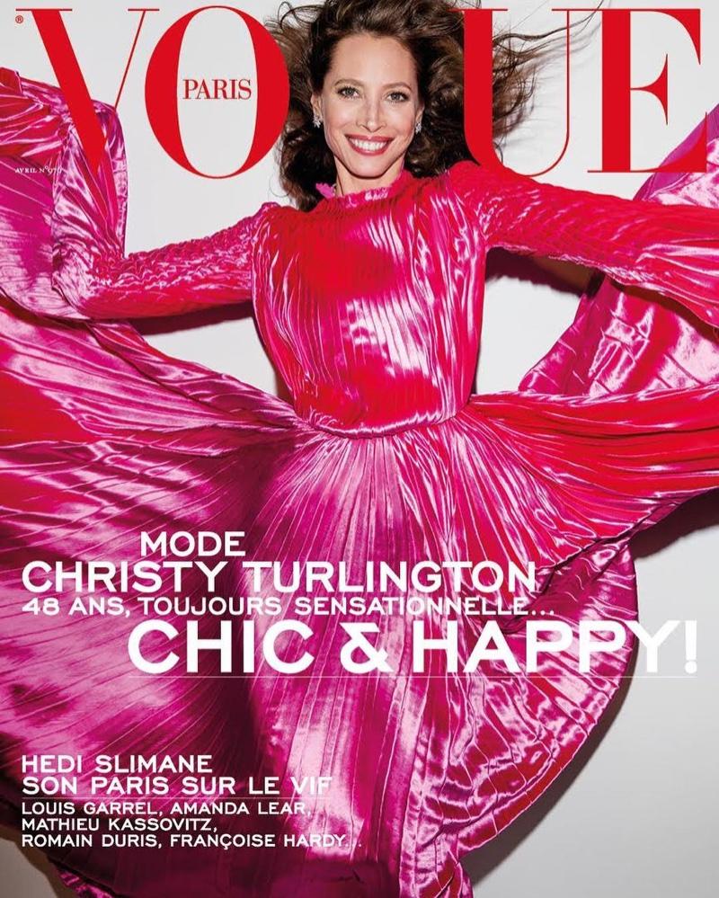 Christy Turlington on Vogue Paris April 2017 Cover