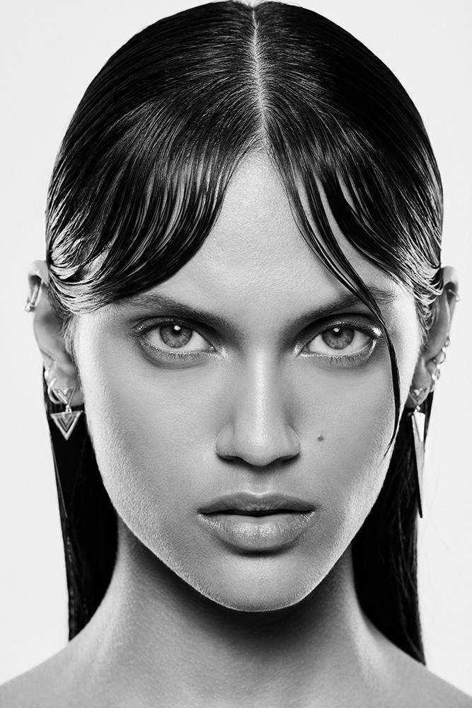 Getting her closeup, Dalianah Arekion models a sleek hairstyle