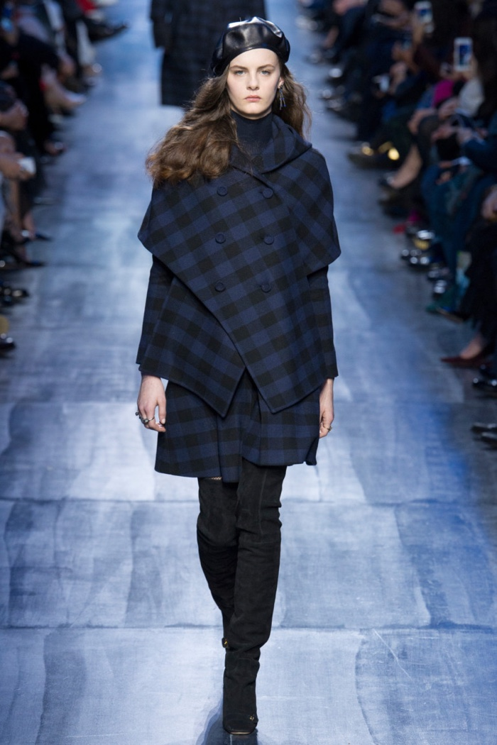 32615239d66c9 Plaid jacket and skirt from Dior's fall-winter 2017 collection
