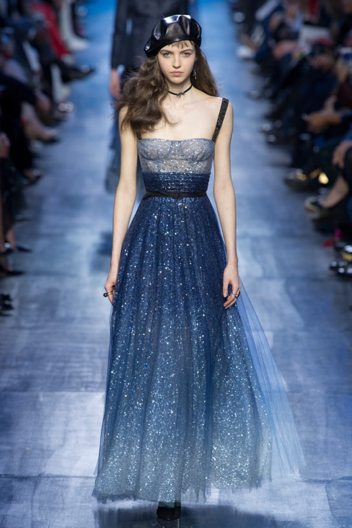 Crystal embellished gown from Dior's fall-winter 2017 collection