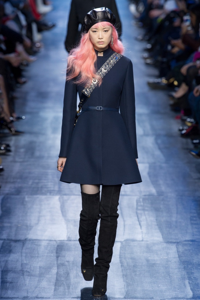 Flared a-line jacket dress from Dior's fall-winter 2017 collection