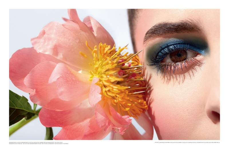 Dior Magazine features spring beauty looks