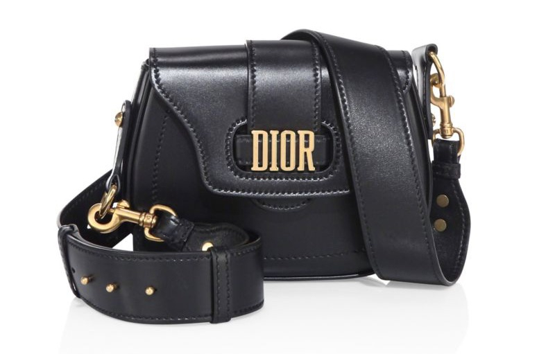 Dior Medium D-Fence Leather Saddle Bag in Black $2,700
