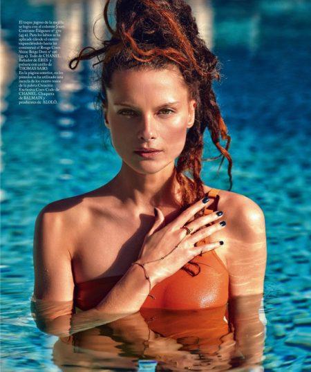 Elena Melnik Models Sun-Kissed Beauty Looks for S Moda
