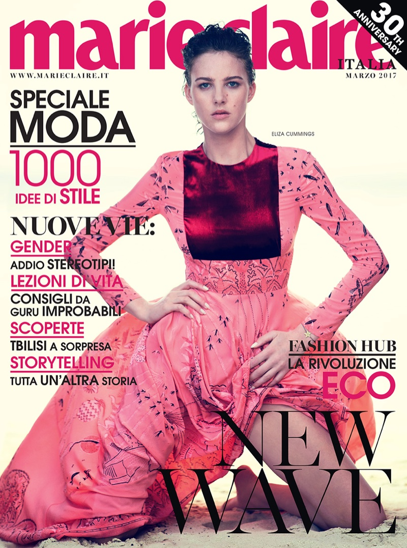 Eliza Cummings on Marie Claire Italia March 2017 Cover