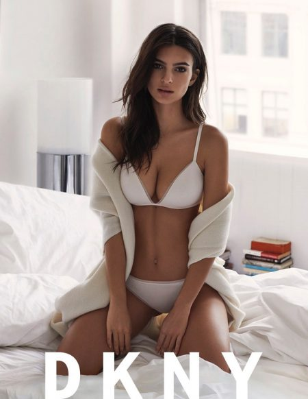Model Emily Ratajkowski fronts the spring-summer 2017 Intimates campaign from DKNY