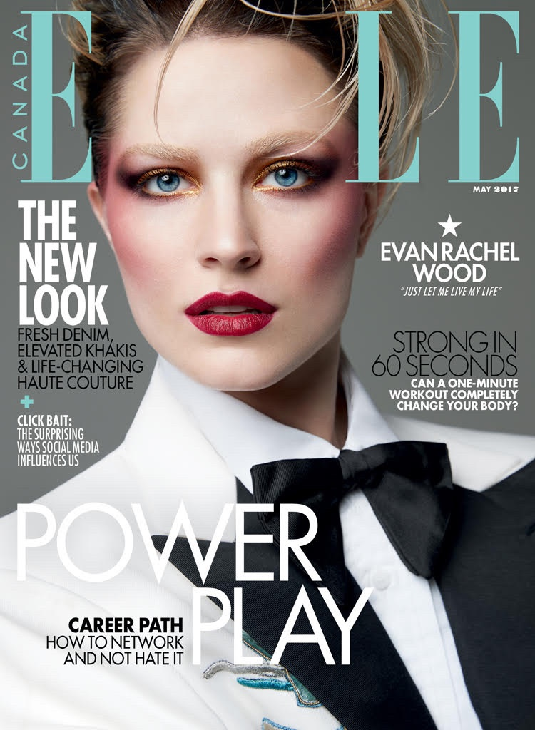 Evan Rachel Wood on ELLE Canada May 2017 Cover
