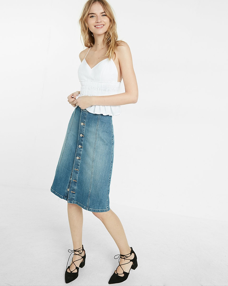 Wish List: A Not So Basic Denim Skirt From Express