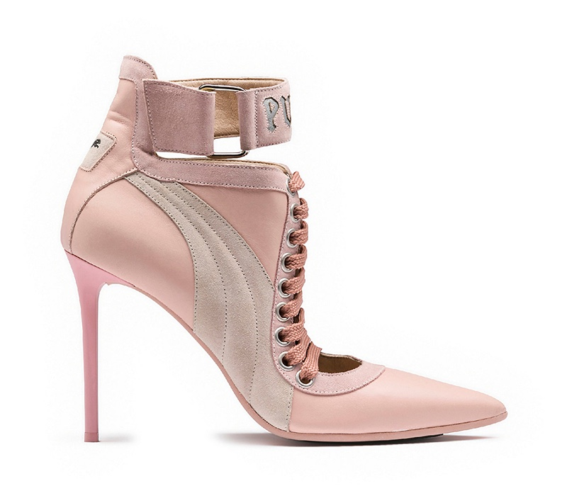 Fenty Puma by Rihanna Lace Up Heel in Pink $450