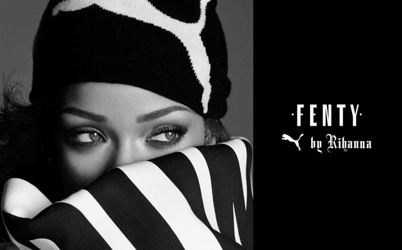 Singer Rihanna layers up in beanie and scarf for Fenty Puma by Rihanna campaign