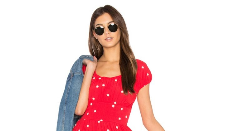 For Love & Lemons Chiquita Tiered Mini Dress