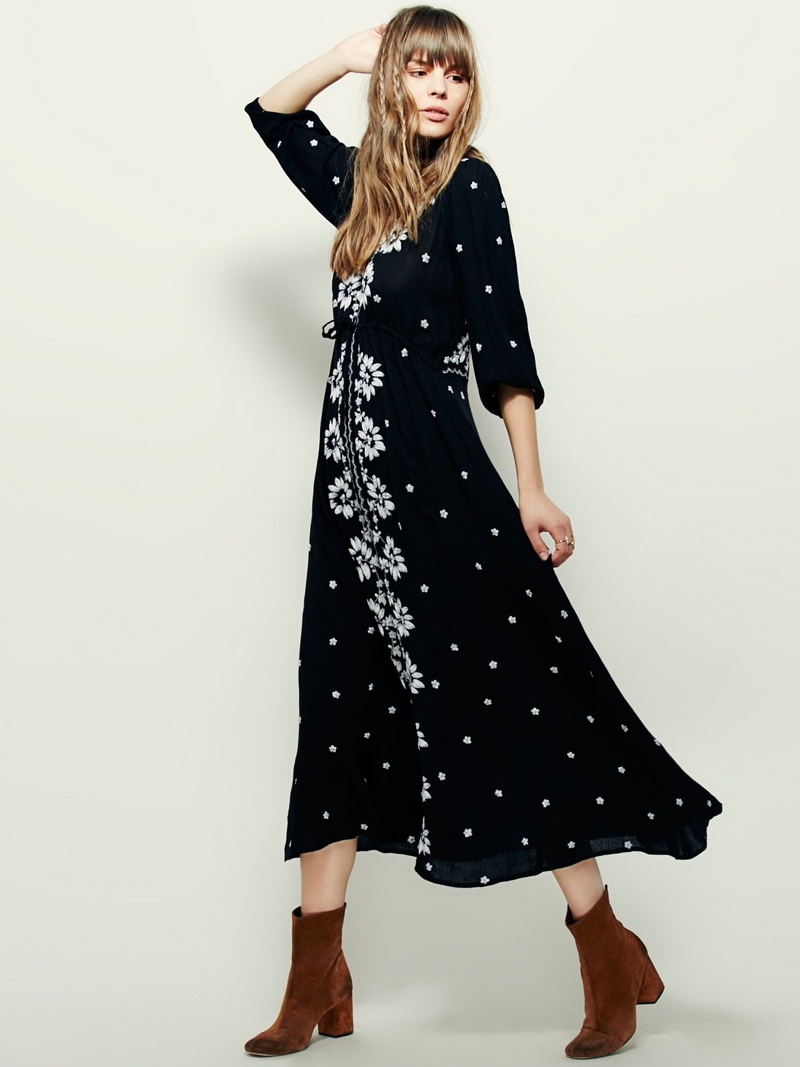 Free People Embroidered Fable Dress $168