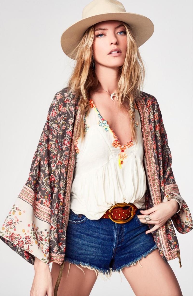 Martha Hunt Models Free People's Groovy Festival Styles