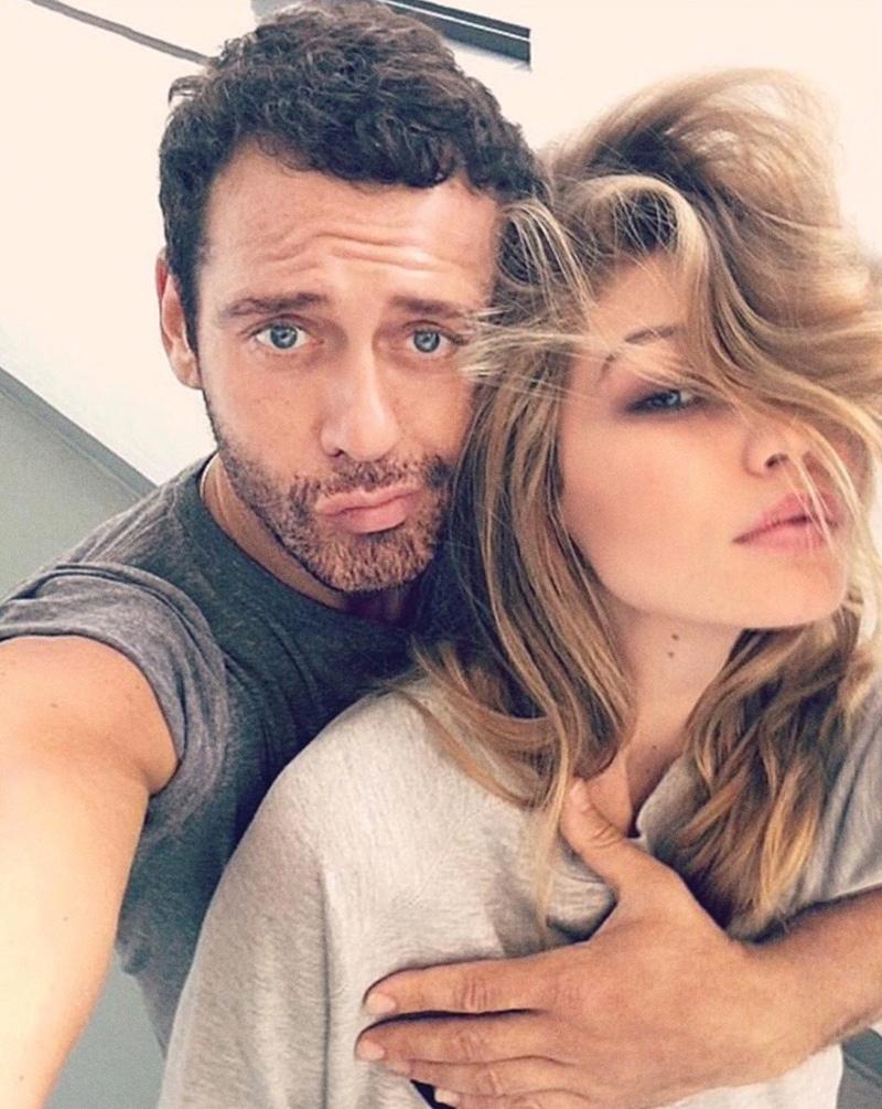 Photographer Mert Alas and model Gigi Hadid take a selfie. Photo: Instagram/mertalas