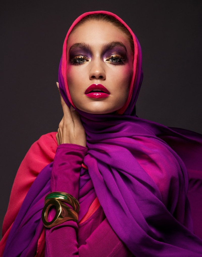 Gigi Hadid wears custom Brandon Maxwell designs