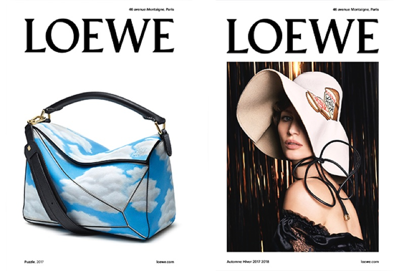 An image from Loewe's fall-winter 2017 campaign starring Gisele Bundchen