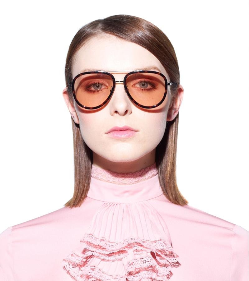 Gucci Aviator Sunglasses with Tortoiseshell Frame $298