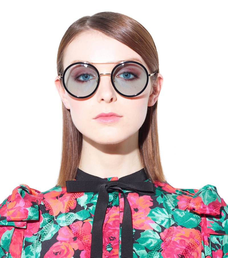 Gucci Round Sunglasses with Black Frame $298