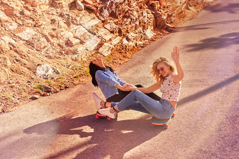 Starlie Cheyenne and Daisy Clementine go skateboarding in H&M Loves Coachella campaign