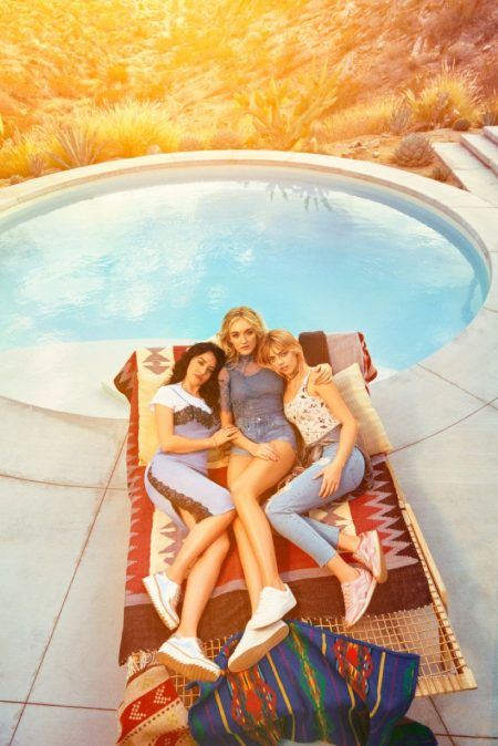 The Smith sisters Pyper America, Daisy Clementine and Starlie Cheyenne star in H&M Loves Coachella campaign