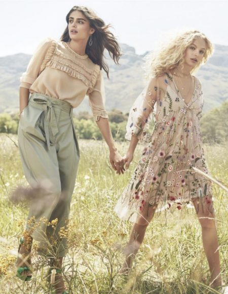 Taylor Hill & Frederikke Sofie Model Dreamy Styles for H&M's Spring 2017 Campaign