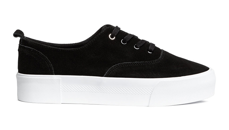 H&M Suede Platform Sneaker $59.99