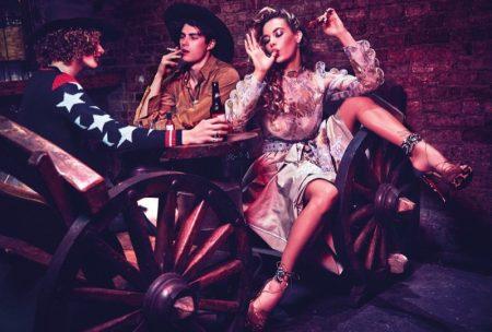 Hannah Ferguson is a Dive Bar Diva in Wonderland Magazine