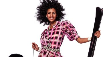 Imaan Hammam Gets Glam in the Spring Collections for Vogue Japan