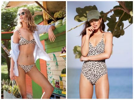 Toni Garrn & Emily DiDonato Are Beach Babes in J. Crew Swimwear