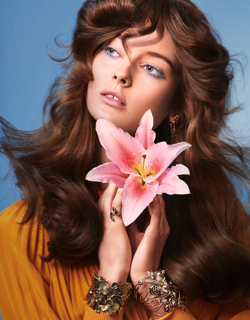 Jac Jagaciak Has Flower Power in Vogue Taiwan Beauty
