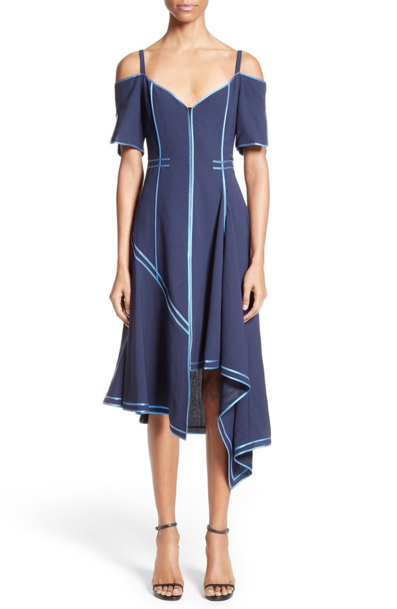 SHOP THE CAMPAIGN: Jason Wu Stretch Wool Mesh Day Dress with Decorative Binding $2,195, Available at Nordstrom.com.