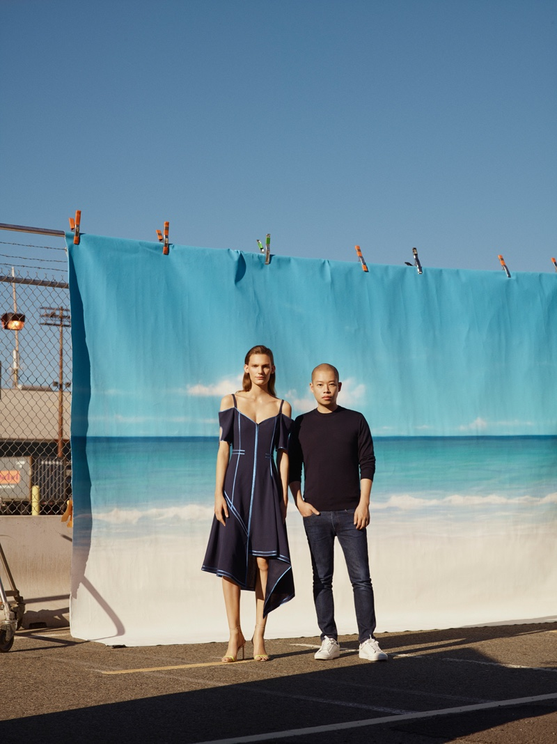 Jason Wu poses for Jason Wu x The Woolmark Company's spring-summer 2017 campaign